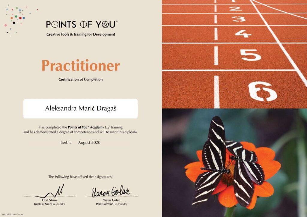 Aleksandra Maric sertifikovani trener